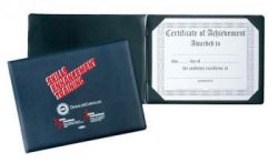 Imitation Leather Sealed Panoramic Certificate Holder for one certificate