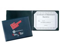 Imitation Leather Sealed Panoramic Certificate Holder for two certificates